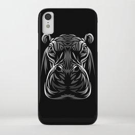 Tribal hippopotamus iPhone Case