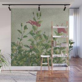 Botanical Vintage Style Motif Artwork Wall Mural