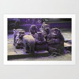 Bali monkey statues Art Print