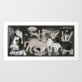 Guernicats Art Print