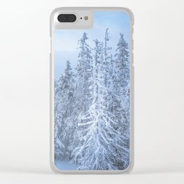 Winter forest in the Mountains Clear iPhone Case