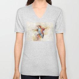 Hummingbird art series Unisex V-Neck