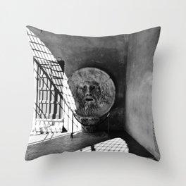 Bocca della Verita Throw Pillow