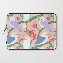 Kookaburra Birds + Little Kurrajong Flowers Laptop Sleeve