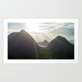 Dawn over Cerro Mavecure Art Print