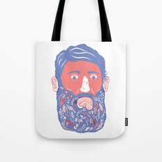 Flowers in Beard Tote Bag