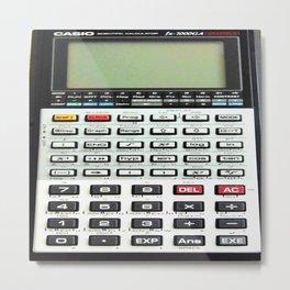 Vintage Calculator Metal Print