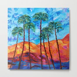California Palm Trees Metal Print