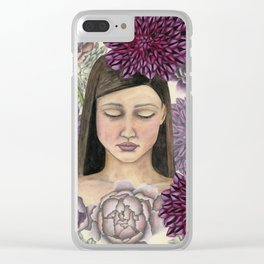 Flowerbed Clear iPhone Case