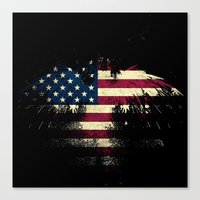 american flag Canvas Prints featuring AMERICAN FLAG by Oksana Smith