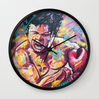 ali Wall Clocks featuring Ali by somanypossibilities