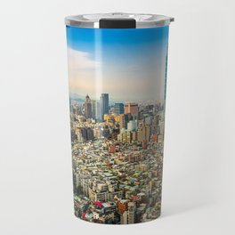 Aerial view and cityscape of Taipei, Taiwan Travel Mug