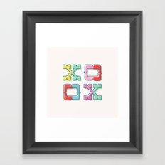 Color-Blocked XOXO Framed Art Print