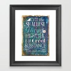 Substance - Earth Lifts Sky Framed Art Print