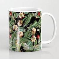 botanical Mugs featuring BOTANICAL  by sametsevincer