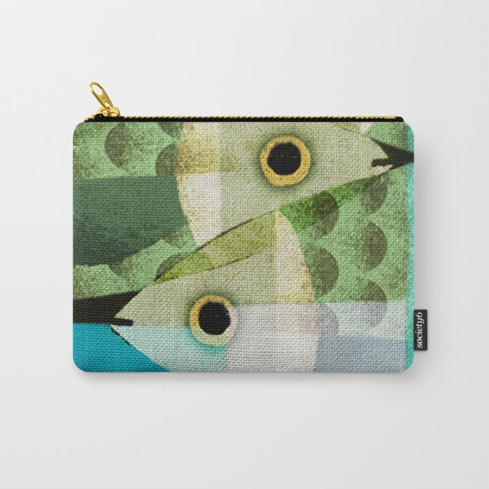 Fish Boxed Carry-All Pouch