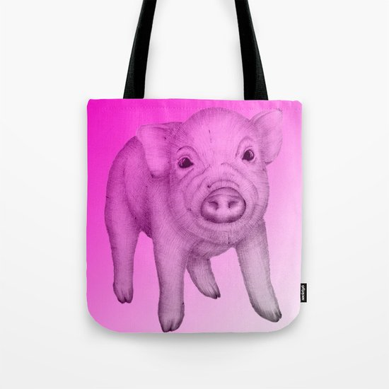 Piggy in Pink Tote Bag