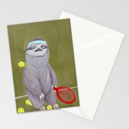 Sloths Are Bad At Things- Kevin the Tennis Star Stationery Cards