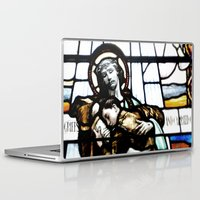 christ Laptop & iPad Skins featuring Jesus Christ by miss|melissa