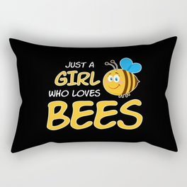 Just A Girl Who Loves Bees Rectangular Pillow