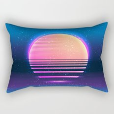 Retro vintage 80s or 90s geometric style abstract art Rectangular Pillow