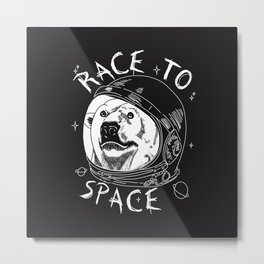 Race to space Metal Print