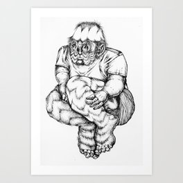 Manball Art Print