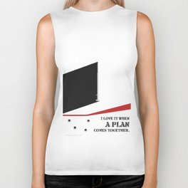 Lab No. 4 - I Love It Hannibal Smith's quotes Poster Biker Tank