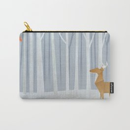 Origami deer in the Woods Carry-All Pouch