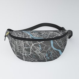 WARSAW Map Poland | Black | More Colors, Review My Collections Fanny Pack