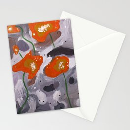 Poppies On Indian Rock Stationery Cards