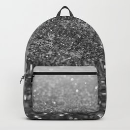 Silver Gray Black Glitter #2 (Faux Glitter - Photography) #shiny #decor #art #society6 Backpack