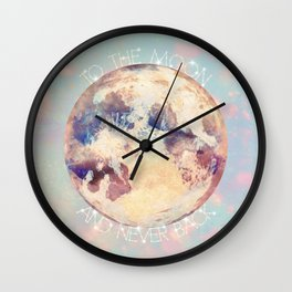 To the Moon! Wall Clock