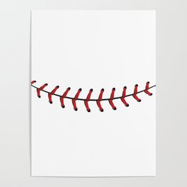 Baseball Lace Smile Poster