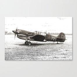 Curtiss P-40 Warhawk Drawing Canvas Print