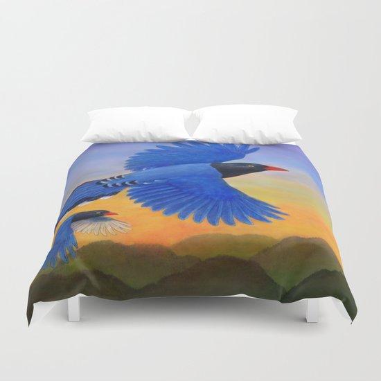 Taiwan Blue Magpie(1) Duvet Cover