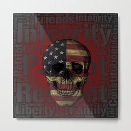 Passionate Patriot Metal Print