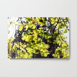Leaves in the Wind Metal Print