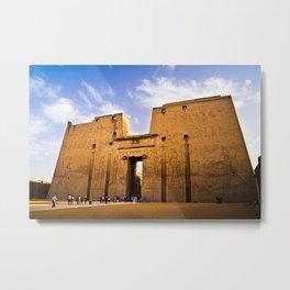 The Temple of Horus in Efdu Metal Print