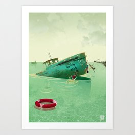 Shipyard Kings Swimming Art Print