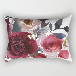 Rojo Floral Rectangular Pillow