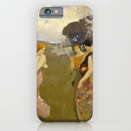Arthur F. Mathews - Spring Dance (1917) iPhone Case