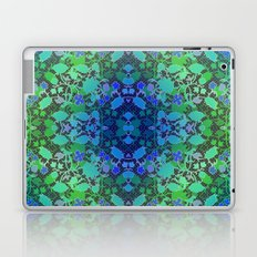 Lila's Flowers Repeat Blue Laptop & iPad Skin