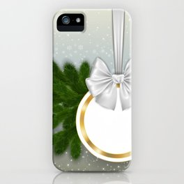 Christmas tag iPhone Case