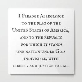 Pledge Allegiance Metal Print
