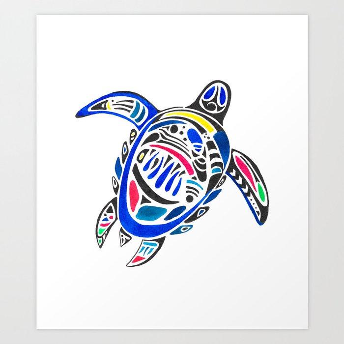 Declan The Sea Turtle Art Print