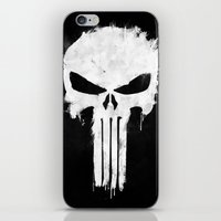 punisher iPhone & iPod Skins featuring Punisher White by d.bjorn