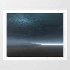 Blue Dawn Art Print