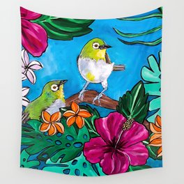 Tropical Tweets Wall Tapestry