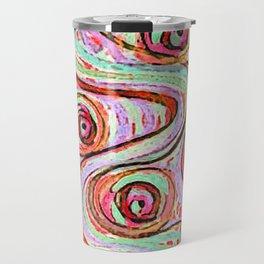 zakiaz sunburst cotton candy swirl Travel Mug